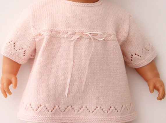 Lace Baby Tunic Instructions in English PDF Instant download Size Newborn - 3 months