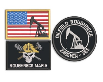 Oilfield - Roughneck - Embroidered Morale patch - 3 designs to choose from