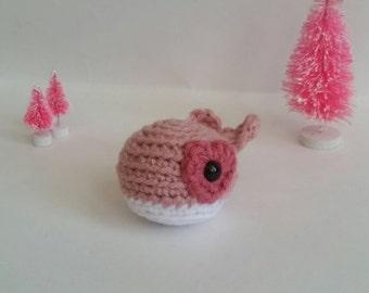 Mini Crochet Whale, Stuffed Animal Whale, Mini Plush Whale, Kid's Birthday Gift, Ocean Animal Toy, Gifts under 30, Whale Amigurumi,Aquatic
