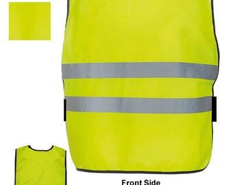 Child Baby Reflective Vest Tabard Apron Style HiViz Waistcoat Hi Vis Visibility Orange or Yellow Children Clothing Safety Sports Wear