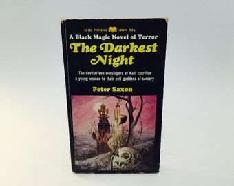 Vintage Occult Book The Darkest Night by Peter Saxon 1967 Paperback Black Magic