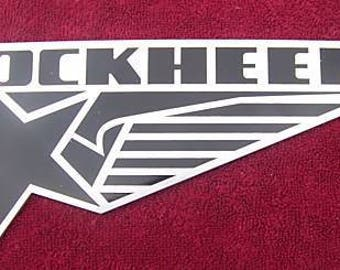 LOCKHEED CORPORATION AIRCRAFT aluminium logo plaque - 3mm Aluminium
