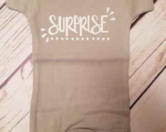 Baby Clothes, Surprise bodysuit, Baby Announcement