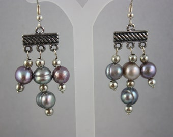 earrings, pearl earrings, dangle earrings, drop earrings, pearl drop earrings, pearl dangle earrings, handmade jewelry