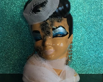 Cleopatra Mummy Glamour Ghoul Head Vase ~ Monster Pinup with Rotting Flesh