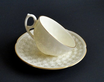 Vintage Lenox Demitasse Cup and Saucer Set Reproduction of First Lenox Piece 1889