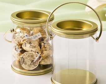 Paint Can Style Gold Wedding Favor Holders (Pack of 10) Favor Containers