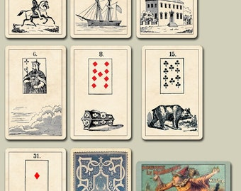 McLoughlin's Lenormand c.1882: Mystic Cards of Fortune