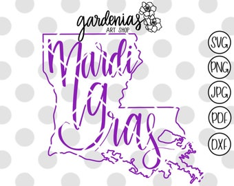 Mardi Gras svg, Mardi Gras cut file, Mardi Gras shirt svg, Fat Tuesday svg, New Orleans svg, New Orleans cut file, NOLA svg, NOLA cut file