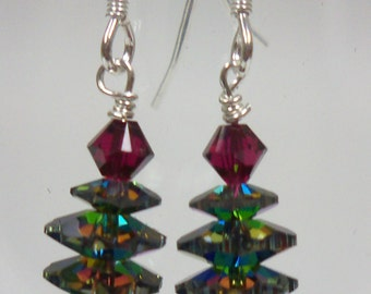 Jewelry Making Kit: Swarovski Christmas Tree Earrings 15703VM