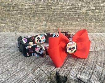 Sugar Skulls Collar with Bow