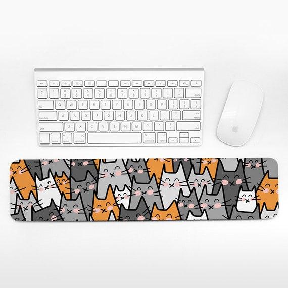 Cat Keyboard Wrist Pad Rest, Orange Gray Wrist Keyboard Rest, Cat Wrist Rest for Keyboard Pad, Fun Cute Cat Desk Office Decor for Women Men