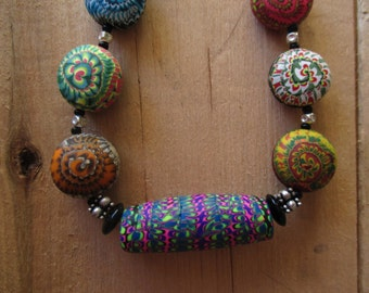 "18"" Stacker Supreme Polymer Clay Beaded Necklace"
