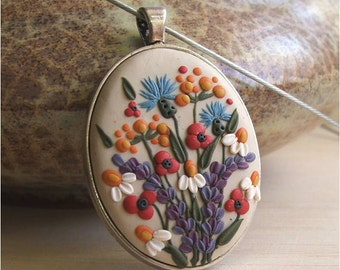 Flower Necklace- Flower Jewelry- Gift Ideas for Mom- Romantic wife Jewelry- Gift for Mom- Gift from Son- Gift from Daughter