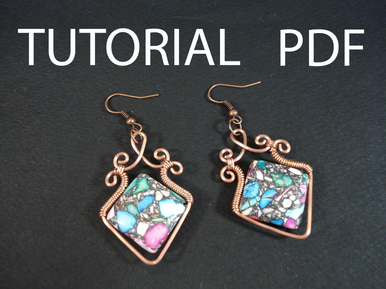 Wire earrings tutorial, wire wrapped tutorial, earrings tutorial ...