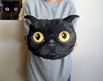 Benutzerdefinierte Pet Portrait Plüsch Kissen, personalisierte Haustier Kissen, Katzenkissen, Hundekissen, Geschenk für Tierfreunde, Haustiere, Weihnachtsgeschenk unter 75