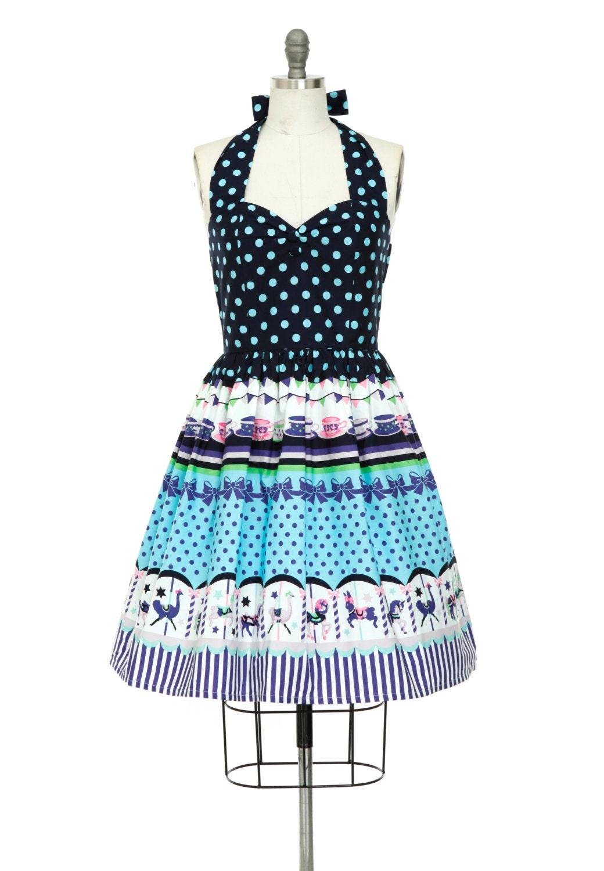 Carousel Kawaii Harajuku Dress Fairy Kei Lolita Holiday Dress
