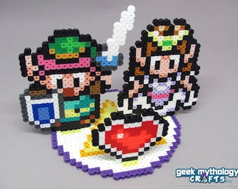 Legend of Zelda Wedding Cake Topper Decoration with Round Base