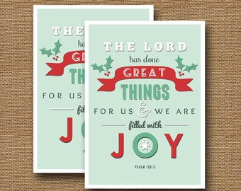 """Retro Christmas Typography Card 