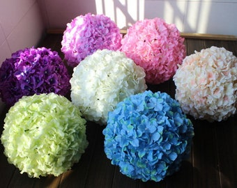 Silk Flower Ball,  Artificial Hydrangea Flower Ball Pomander 7 inch Kissing Ball For Wedding Centerpieces Bridal Shower Decor XQHQ-6