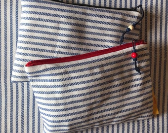 Make up bag in mixed linen