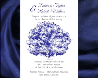 Oak Tree Wedding Invitation & RSVP  Tree Wedding Invitations  Oak Tree Wedding Invitation - Tree Design 85