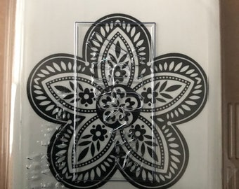 Stampin Up! Triple Treat Flower stamp NEW