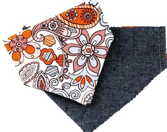 Flower Power Reversible Dog Bandana|Preppy|Vera Bradley inspired|Gifts for dogs and dog lovers