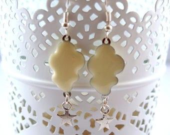 White cloud Silver earrings