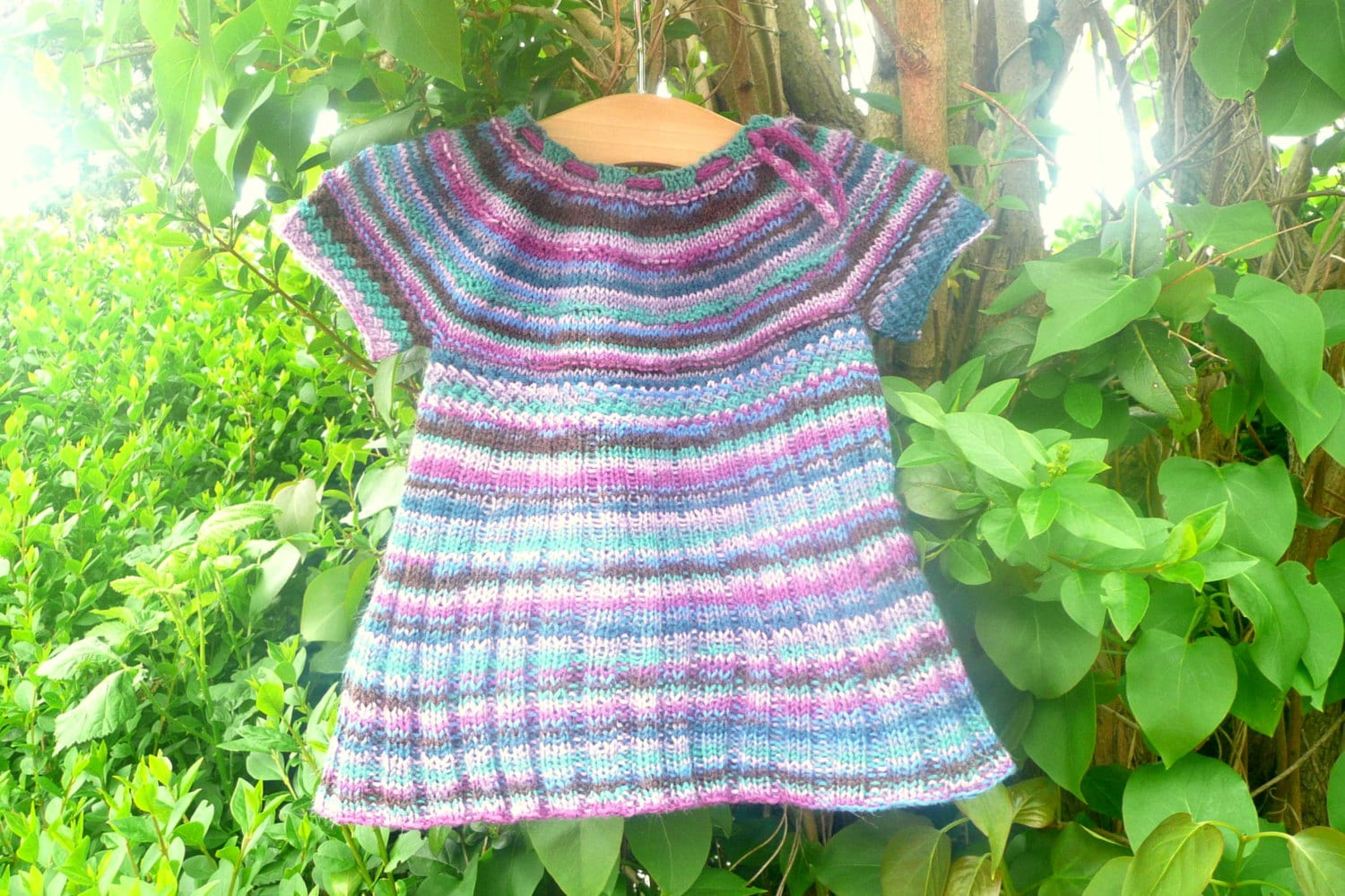 Knitting PATTERN Seamless Top Down BABY CHILD Tunic Dress