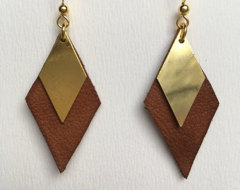 Cubissime 2 - brown leather and Metal Gold