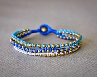Beaded Bracelet, Friendship Bracelet, Wrap Bracelet, Bracelet for Women, Handmade Bracelet, Blue Bracelet, Pink Bracelets, Tribal Bracelet