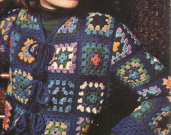 Crochet Jacket Pattern - Granny Squares