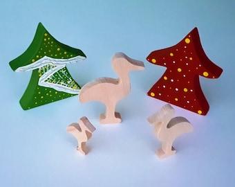 Wooden Toys - Animal Family - Stork