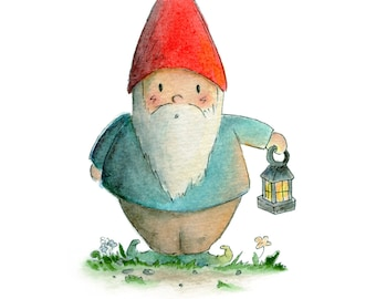 Lantern Gnome - Art Print