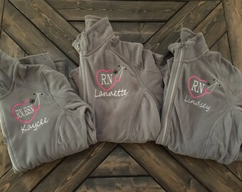 Personalized RN fleece jacket