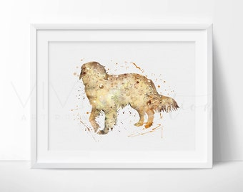 Dog Print, Golden Retriever Watercolor Art, Animal Nursery Art Print, Kids Bedroom Decor, Baby Room,  Wall Art Buy 2 Get 1 Free, No. 46