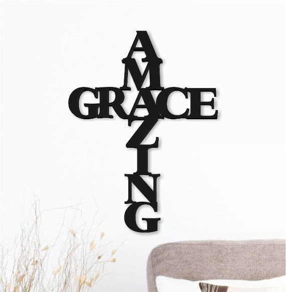 The Word Amazing: Amazing Grace Word Art Wood 3D Cutout By MRC Wood Products