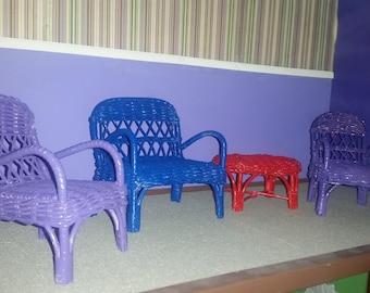Barbie Wicker living room or patio set