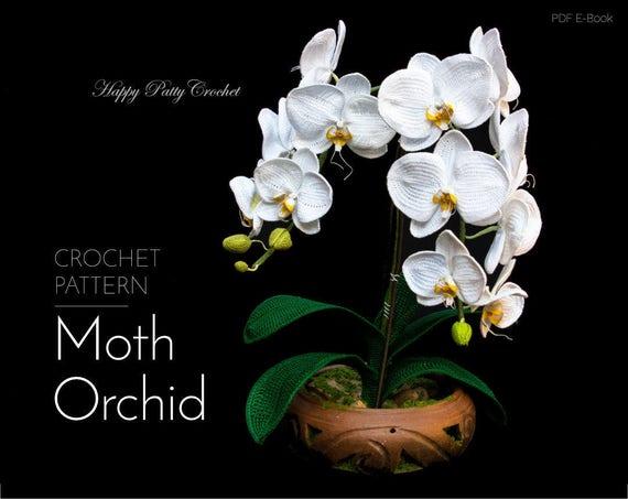 Crochet orchid pattern crochet flower pattern crochet ccuart Gallery