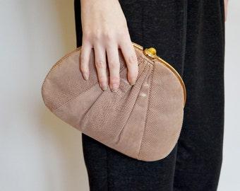 Vintage JUDITH LEIBER Jeweled Lizard Clutch Bag - Designer