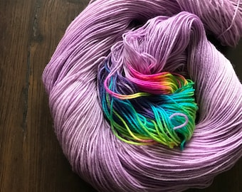 Mythical Rainbow Stripe Sock Yarn