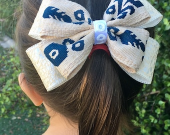 Back to Nature stacked boutique bow