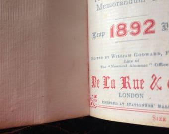 Vintage Diary 1892