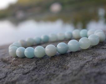 Bracelet en Amazonite pour lithothérapie