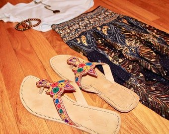 Boho Leather Sandals