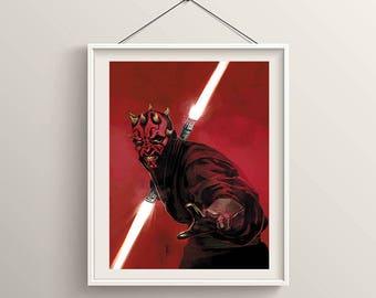 Star Wars Darth Maul Poster Artwork