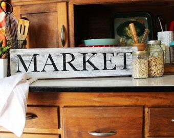 "Farmhouse Market Sign | 24"" Market Sign"
