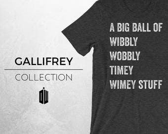 TIMEY - Doctor Who Inspired Shirt, DW, Wibbly Wobbly Timey Wimey, Tardis, Geek Shirt, Novelty Tee, The Doctor