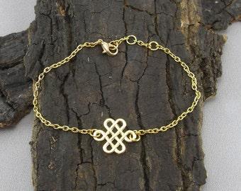 Bracelet Celtic knot Gilded Love knot